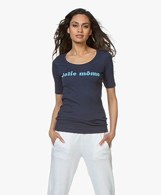 La Petite Française Toinette Print T-shirt - Marine