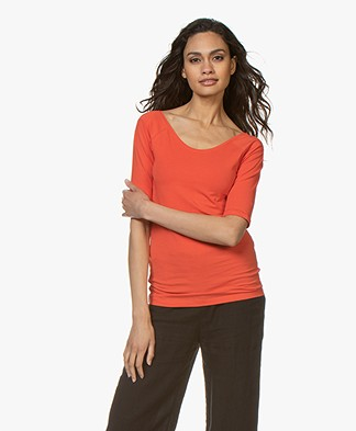 Kyra & Ko Annie Mid Sleeve T-shirt - Red