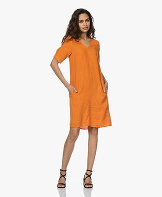 Kyra & Ko Ayla Linen Dress - Orange
