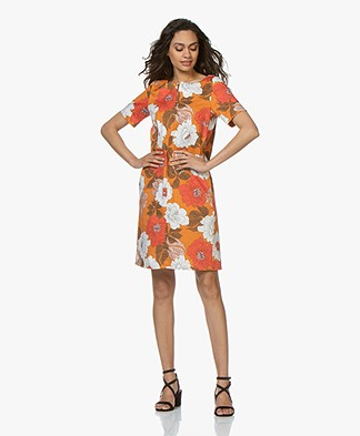 Kyra & Ko Dorine Printed Dress - Orange