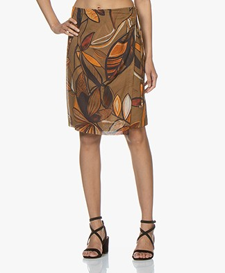 Kyra & Ko Elvira Voile Printed Wrap Skirt - Coconut