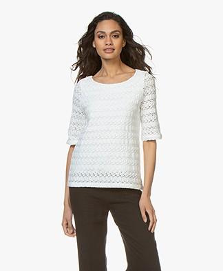 Kyra & Ko Gitte Lace T-shirt - White