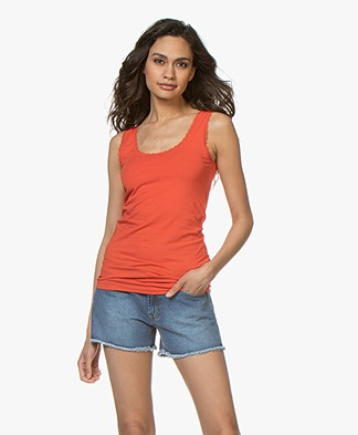 Kyra & Ko Josine Tank Top with Lace - Red