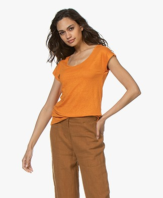 Kyra & Ko Sharon Linen T-shirt - Orange