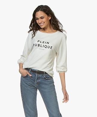 Plein Publique La Bisou Logo Sweatshirt - Ecru/Black
