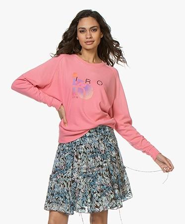 IRO Advent Designer Logo Sweatshirt - Candy Pink