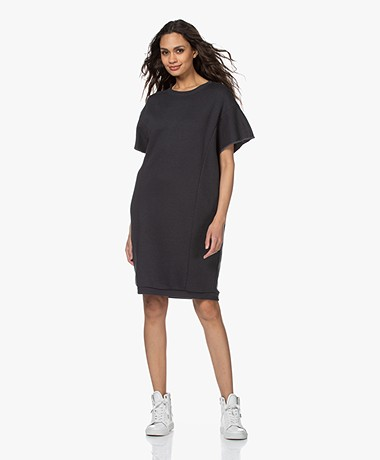 by-bar Micky Oversized Sweater Dress - Off-black