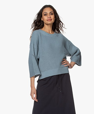 by-bar Mayke Boxy Wide Sleeve Sweater - Cloud