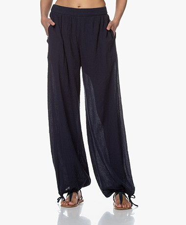By Malene Birger Ranah Mousseline Pants - Night Sky