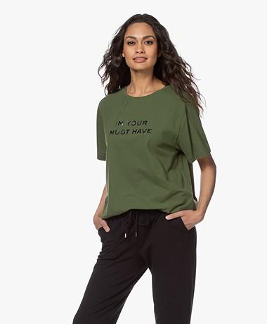 Majestic Filatures Cindy Bruna Musthave T-shirt - New Kaki