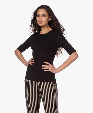 Filippa K Jacqueline T-shirt - Zwart