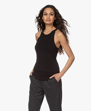 Filippa K Soft Sport Cotton Racer Tank Top - Black