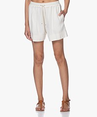 Vanessa Bruno Nibel Linen and Silk Blend Shorts - Cream