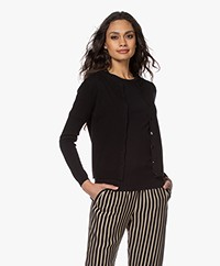 Resort Finest Lucca Basic Cashmere Cardigan - Black