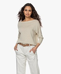 Pomandère Linen Mix Sweater - Light Grey
