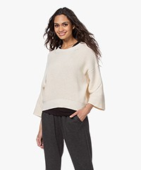 by-bar Mayke Boxy Wide Sleeve Sweater - Off-white