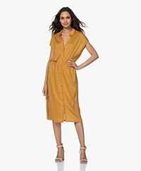 by-bar Agnes Lyocell Jersey Shirt Dress - Straw