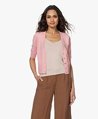 Kyra & Ko Elsanne Short Knitted Cardigan - Rose