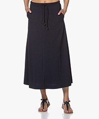 Josephine & Co Bali Jersey Midi Skirt - Navy