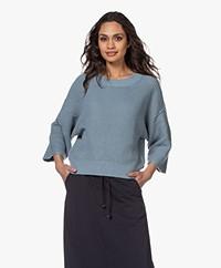 by-bar Mayke Boxy Wide Sleeve Sweater - Cloud