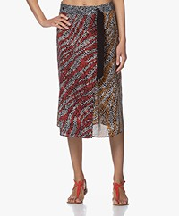 Rag & Bone Colette Silk Printed Wrap Skirt - Multi-color