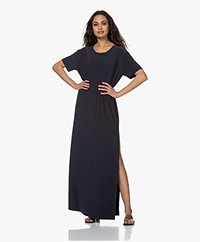 Norma Kamali Tech Jersey Maxi T-shirt Dress - Pewter
