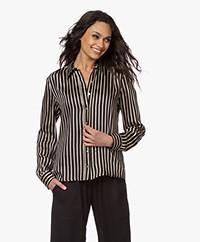 Plein Publique La Sezanne Striped Blouse - Black/Beige