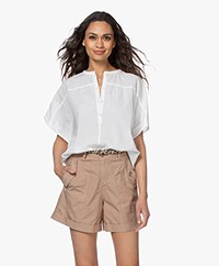 by-bar Bo Cotton Short Sleeve Blouse - White