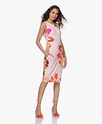 Kyra & Ko Yanou Interlock Jersey Print Dress - Rose