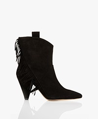 ANINE BING Dixie Suede Boots - Black