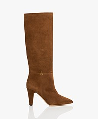Jerome Dreyfuss Sandie Suede Boots - Dark Brown