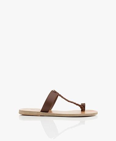 Ancient Greek Sandals Melpomeni Leather Sandals - Chestnut