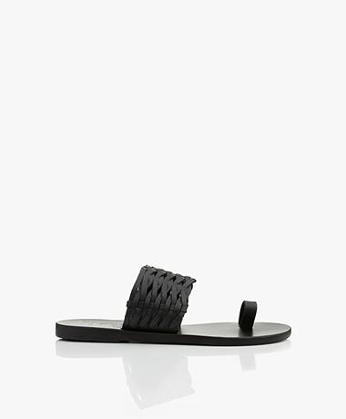 Ancient Greek Sandals Thalia Gevlochten Sandalen - Zwart