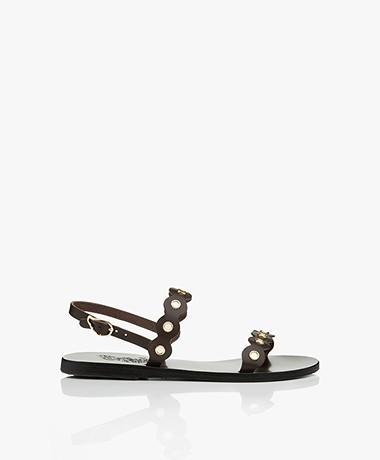 Ancient Greek Sandals Clio Leather Sandals - Dark Brown