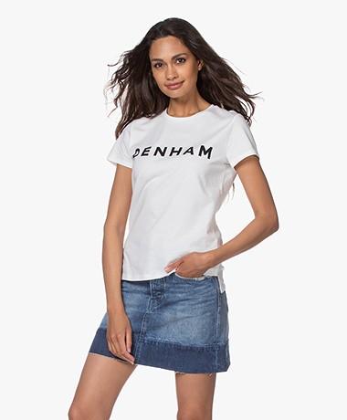 Denham Arrow Logo T-shirt - White/Black