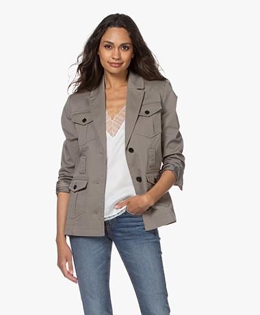 Repeat Twill Utility Blazer Jacket - Khaki