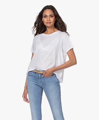 Closed Slub Jersey A-line T-shirt - White
