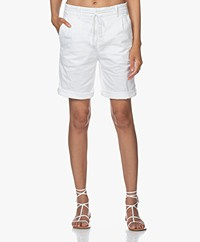 Drykorn Trainee Stretch Cotton Shorts - White