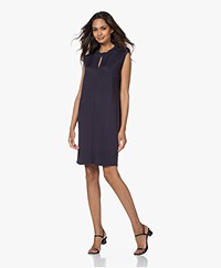 By Malene Birger Avena Mouwloze Jersey Jurk - Night Sky