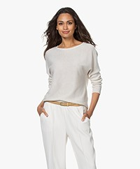 no man's land Fine Knitted Sweater - Light Pearl Grey