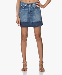 Denham Oswega Denim Mix Skirt - Blue