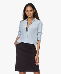 Filippa K Classic Silk Shirt - Atlantic Blue