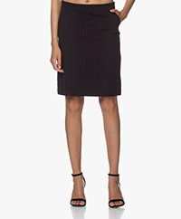 Filippa K Delia Interlock Jersey Skirt - Navy