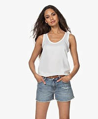 Denham Nora Silk Tank Top - Off-white