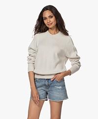 Zadig & Voltaire Montana Cotton Melange Sweater - Craie