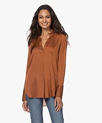 By Malene Birger Mabillon Zijden Blouse - Brick
