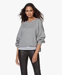 American Vintage Retburg Oversized Sweater - Grey Melange