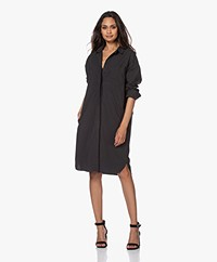 by-bar Suzy Cotton Poplin Shirt Dress - Jet Black