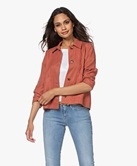 indi & cold Linen Blend Jacket - Terracotta