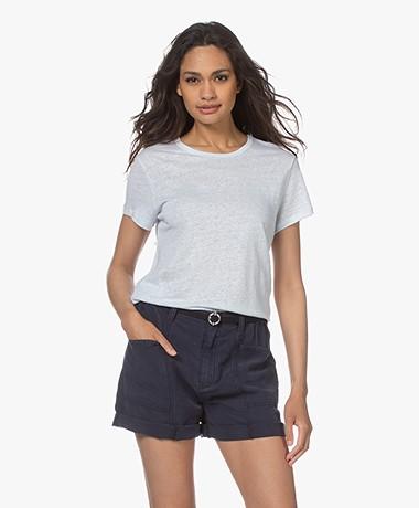 Filippa K Hazel Linnen T-shirt - Washed Blue